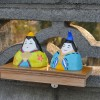 塀とひな人形と傘置き 3月5日今日この頃