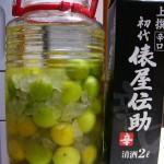 日本酒でつくる梅酒