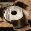 ボール盤でフライス加工 (1)ハンドルバーエンド(ステンレス)の加工