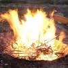 一斗缶で作る無煙炭化器 (2)組立て式への変更と燃焼実験