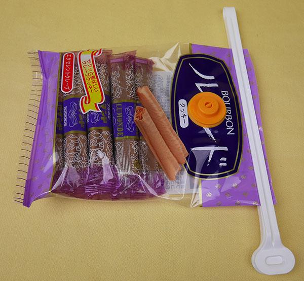 お菓子袋にクリッカ使用