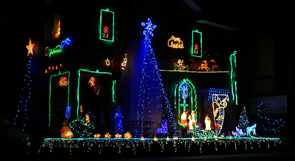 クリスマスイルミ2015斜め