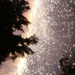 篠田神社の火祭り
