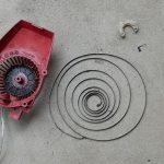 エンジン始動紐(スターターロープ)の交換~スターターバネの嵌め方