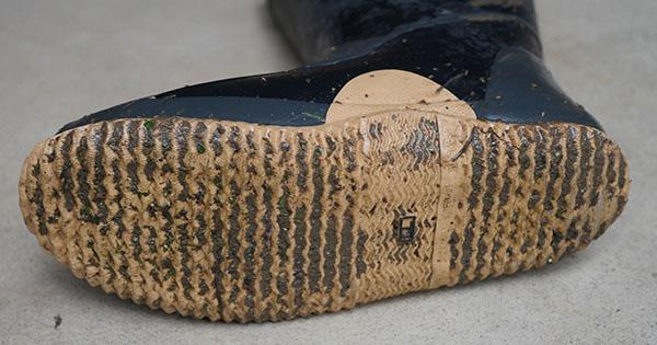 使用後の靴底
