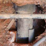土管排水路の修復工事