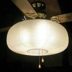 シーリングファン付き照明の和風セード化
