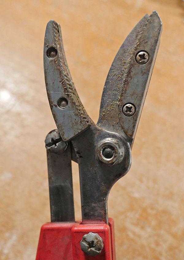 高枝切りハサミの先端部分