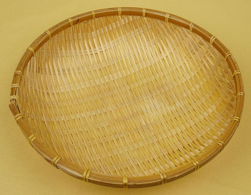 綺麗になった竹製ザル