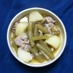 ふき料理(2) 豚肉・じゃが芋との煮物、ふきご飯