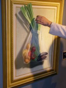 透明袋の野菜
