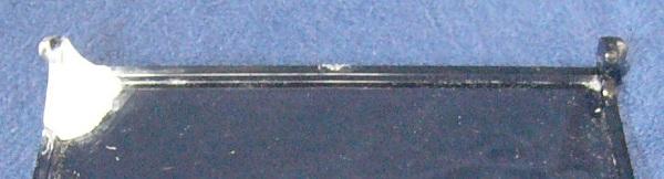 アクリルプレート左右のヒンジ