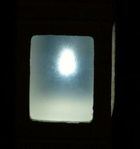 ソーラーLEDストーンライト点灯時