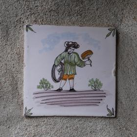 玄関の飾りタイル左