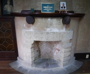 応接室の暖炉
