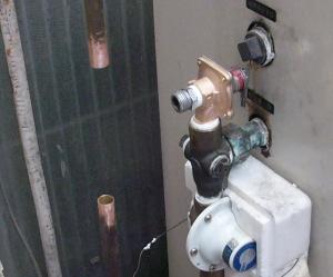 排水管パイプ取り付け前