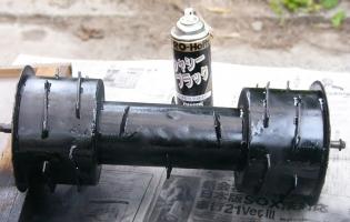 車輪の塗装