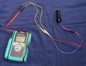 シガーライター電圧測定法
