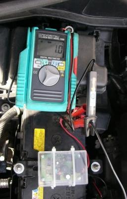 動作電圧再調整後充電中