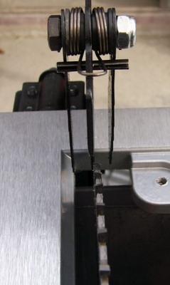 平行調整後の鋸刃とスプリッター