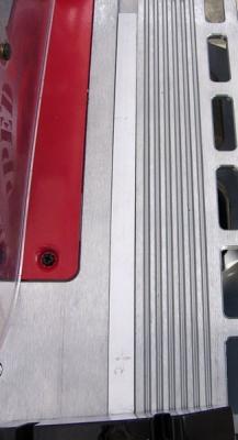 傾斜定規スライド溝の隙間