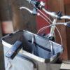 自転車ライトを前カゴに付けるアダプタを作成