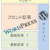 [WordPress]トップページにフロント記事と新着一覧を表示する方法