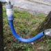 立水栓などで便利な形状自在蛇口ホース